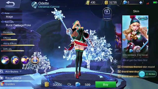 Odette new skin christmas