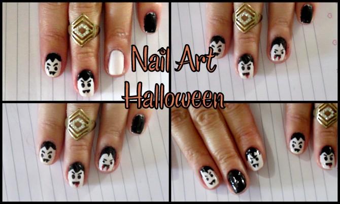 nail art, unhas artísticas,unhas decoradas,dia das bruxas,halloween, vampiro, drácula,