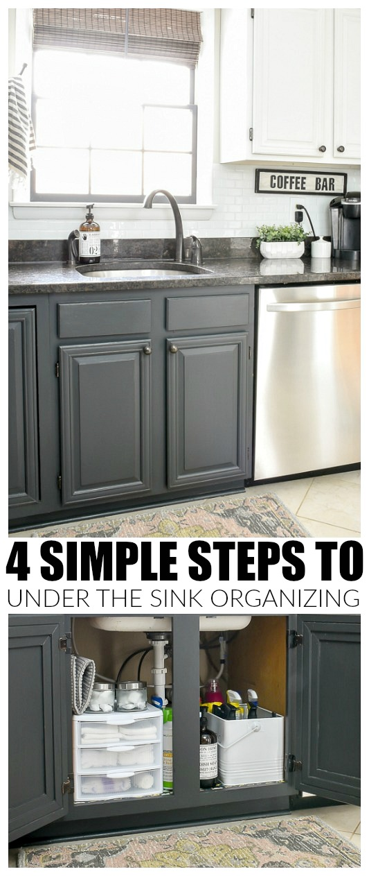 How to quickly and easily organize under your kitchen sink