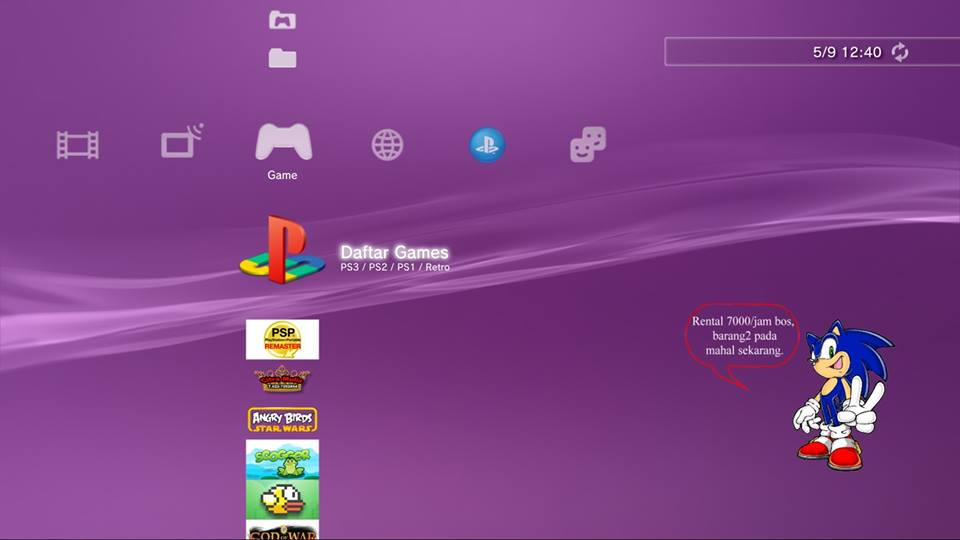 Custom XMB PS3  Bikin logo PS3 sesuai selera pada layar xmb PS3
