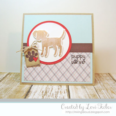 Puppy Love card-designed by Lori Tecler/Inking Aloud-stamps from Paper Smooches