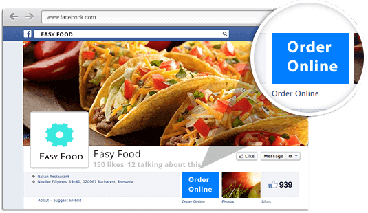 Order food from Facebook