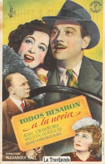 Programa de Cine - Todos Besaron a la Novia - Joan Crawford - Melvyn Douglas