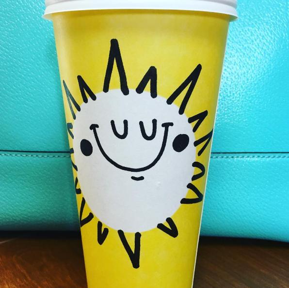 Starbucks yellow Spring cup