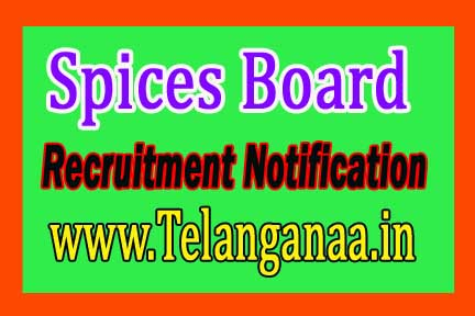 Spices Board Recruitment Notification 2016