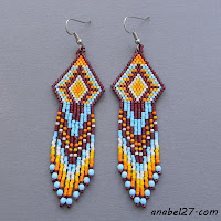 seed bead earrings - beaded jewelry