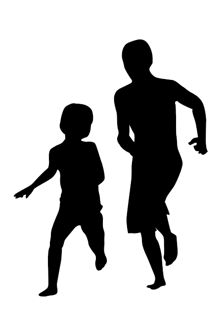 Silhuetas para montar mural Dia dos Pais