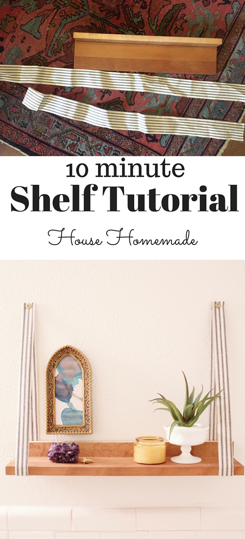 Fabric hanging shelf  tutorial | House Homemade