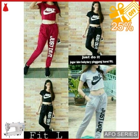 AFO333 Model Fashion Joger Just Do It Modis Murah BMGShop