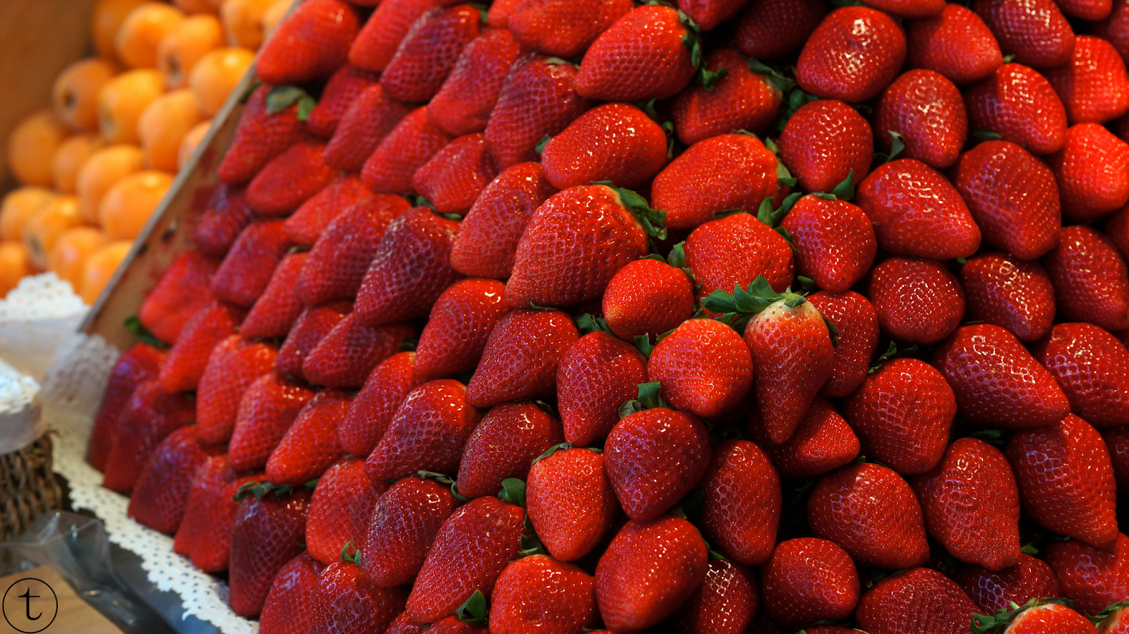 fresh fruits at san miguel market in madrid spain