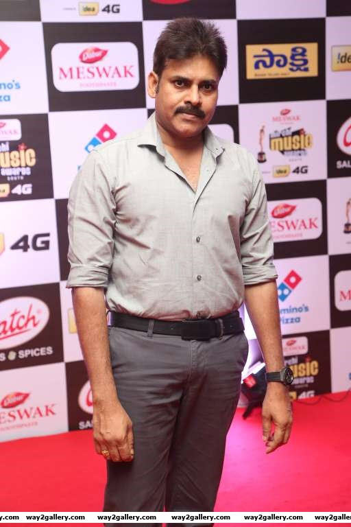 Telugu actor Pawan Kalyan graced the Mirchi Music Awards South