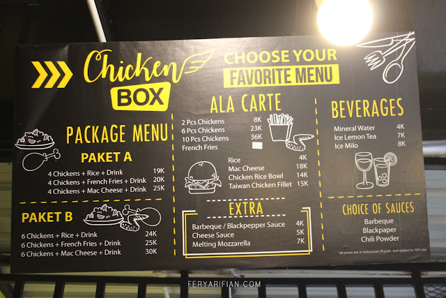 Daftar menu Chicken Box Malang