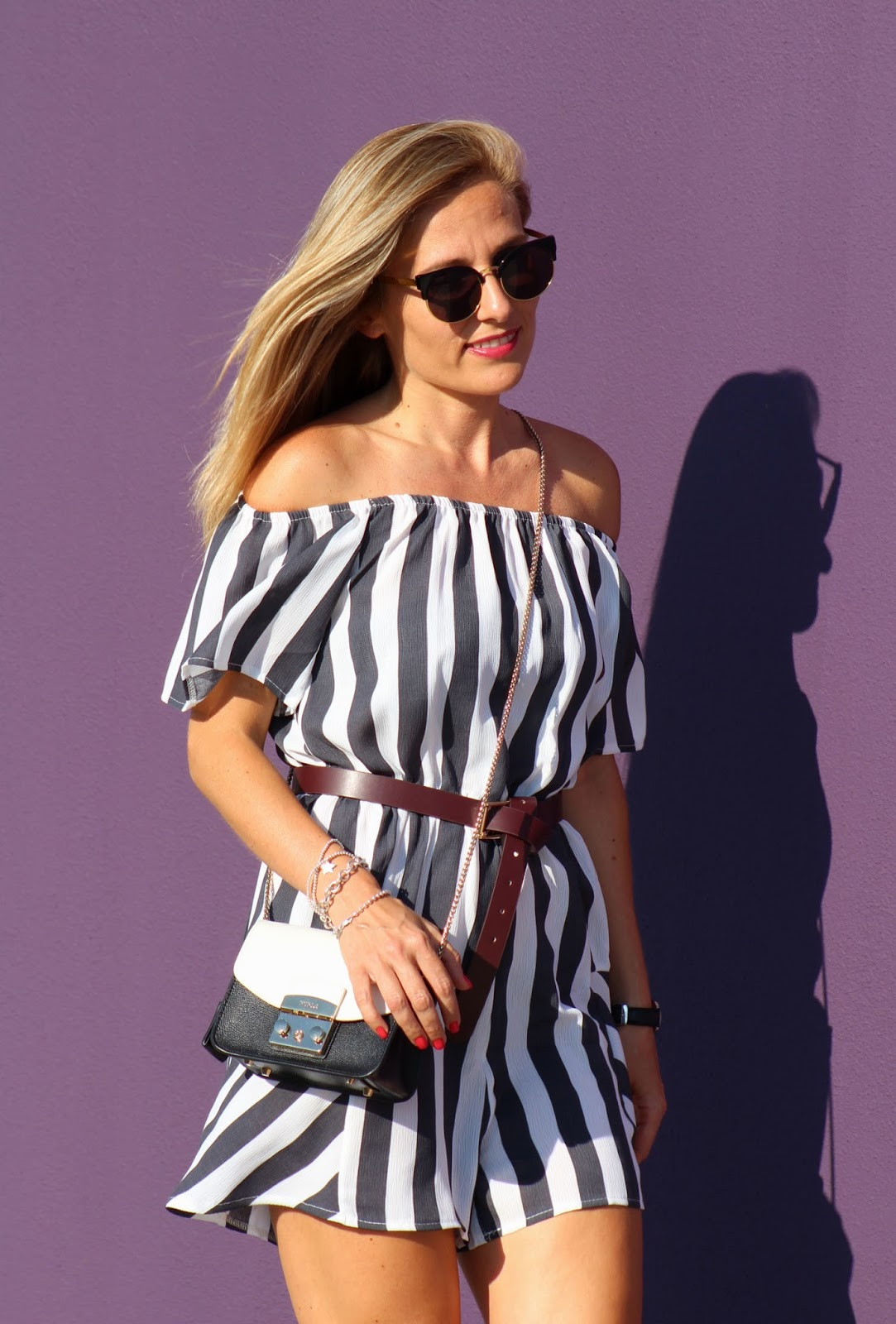 Eniwhere Fashion - Romper Zaful - Stripes