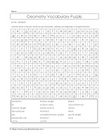 math word search puzzle geometry