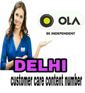 ola customer care number delhi
