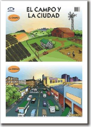 Actividades Escolares imagenes para trabajar el campo y la ciudad