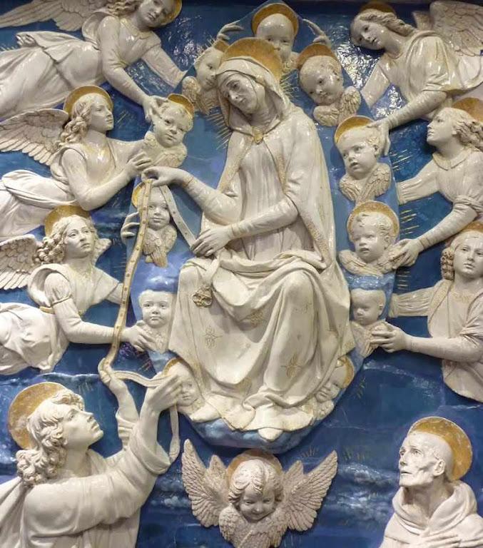 São Tomé recebe o cinto. Andrea della Robbia