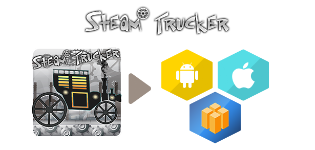 Steam Trucker Game - Android Studio + Tamplate Buildbox - 2
