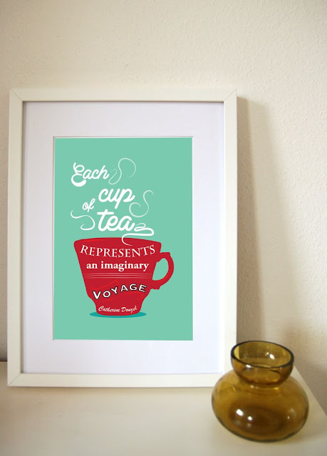The tea lover will adore this print in their home.