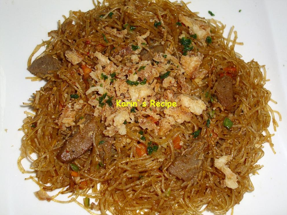 Karin`s Recipe: Bihun Goreng (Fried Rice Noodles)