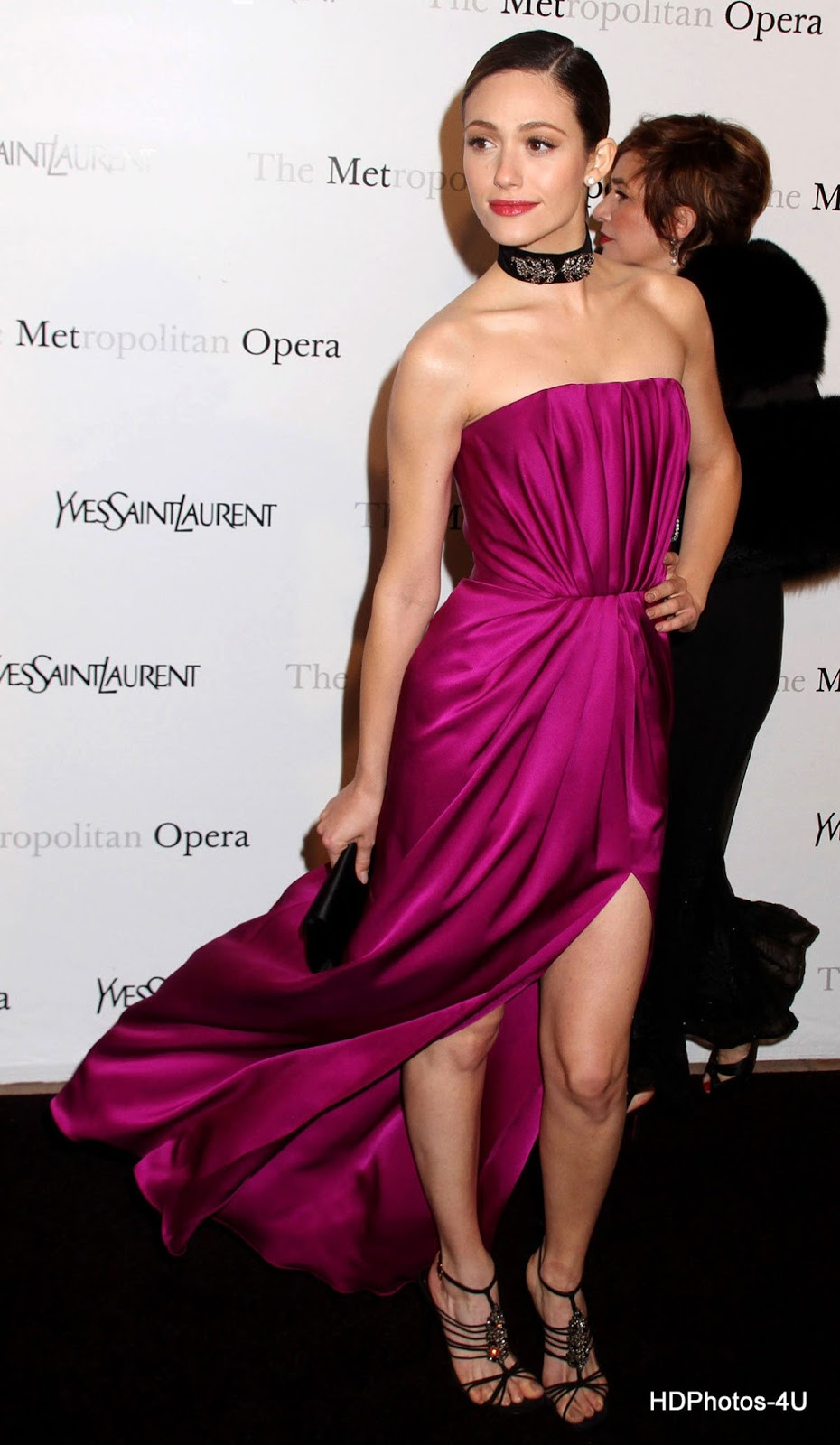 4K Photos of Emmy Rossum in Pink Dress at Metropolitan Opera Gala Premiere of Manon in New York