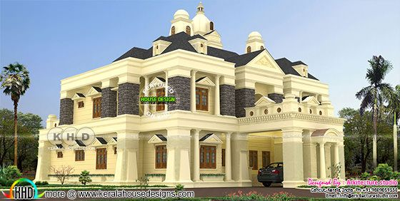Luxury colonial house architecture