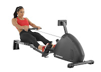Schwinn Crewmaster Rowing Machine, with adjustable magnetic resistance, durable nylon transmission, ergonomic handle & padded seat, fitness monitor with large LCD screen