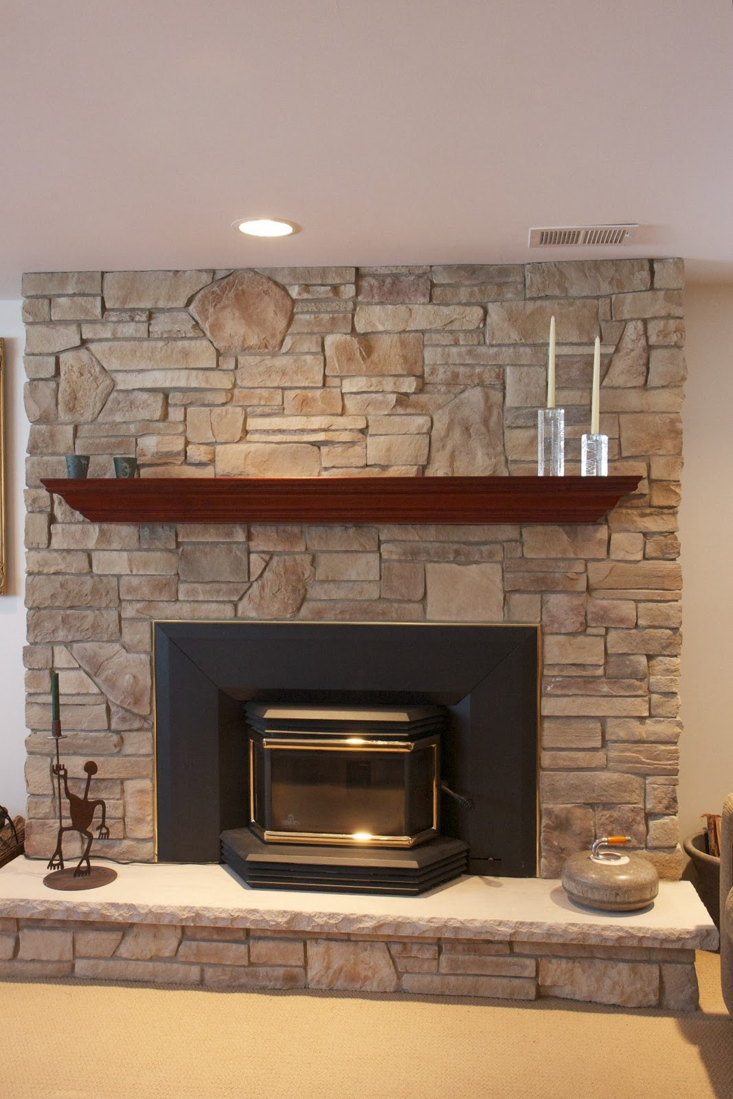 North star stone stone fireplaces stone exteriors - Stone and wood fireplace ...