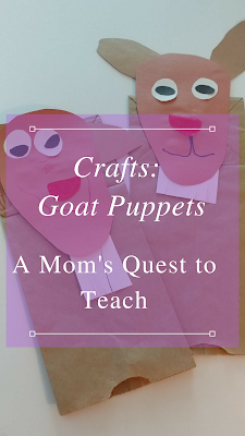 Two Paper Bag Goat Puppets