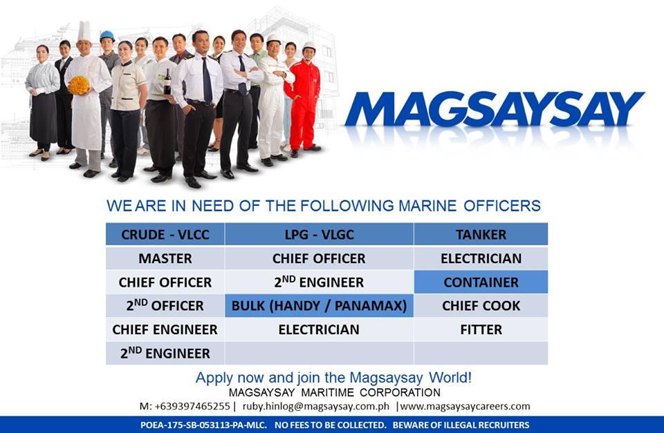 Hiring Crew For Container, Bulk Carrier, LPG, VLCC - Seaman jobs