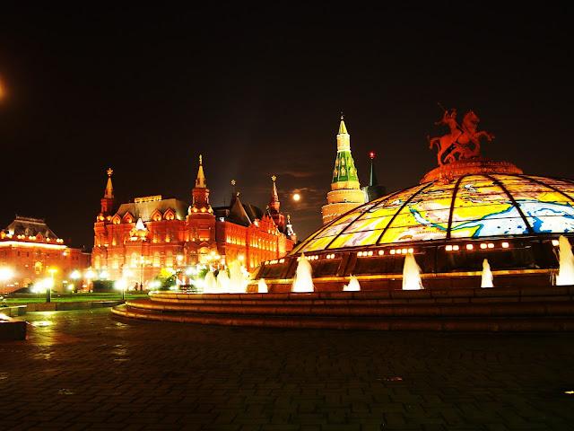 Moskwa w nocy (sierpień 2016)