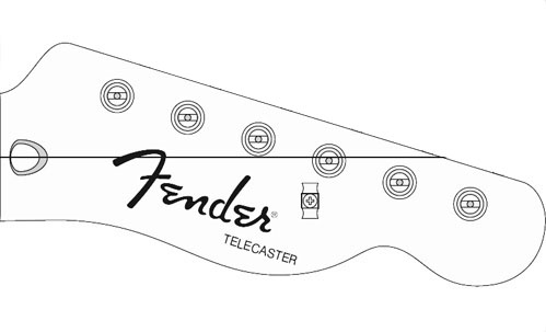 Louco por guitarra telecaster sx american alder for Stratocaster headstock template
