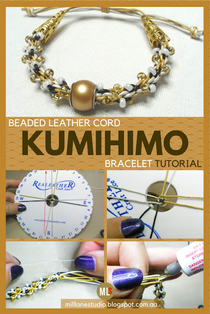 Beaded Leather Kumihimo Bracelet Tutorial sheet