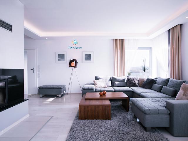 Phòng khách căn hộ dự án Risemount Apartment
