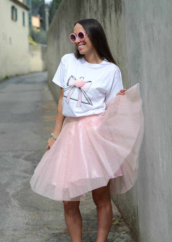 gonna tulle rosa