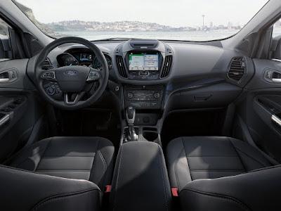 "2018 Ford Escape Titanium Cabin with 8"" touchscreen"