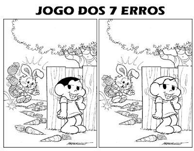 Jogo dos sete erros - MAGALI E O COELHINHO DA PÁSCOA