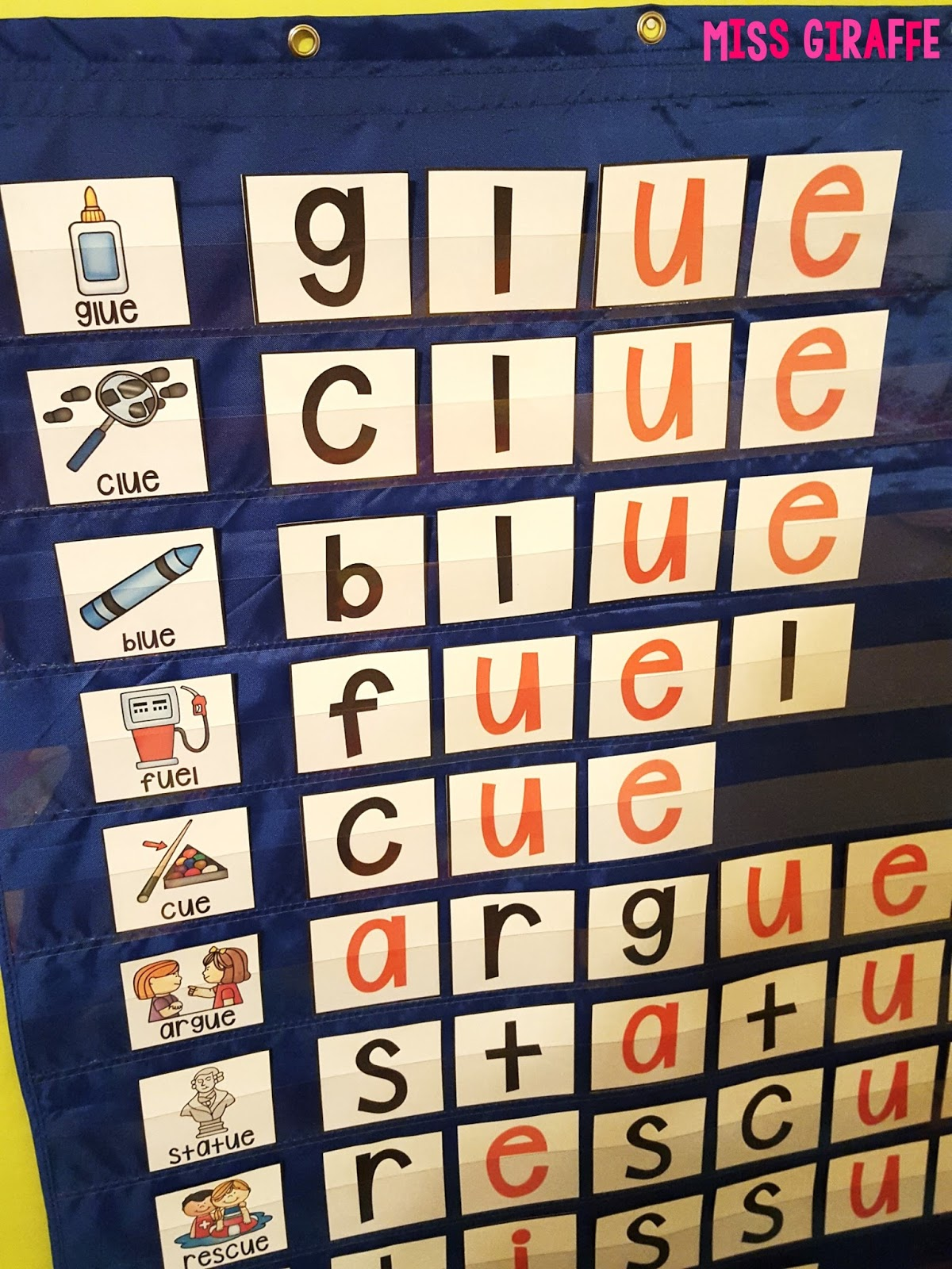 Miss Giraffe's Class: EW UE UI Activities