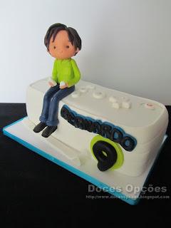 bolo aniversário consolas jogos bragança wii