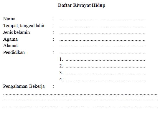 Contoh CV Daftar Riwayat Hidup