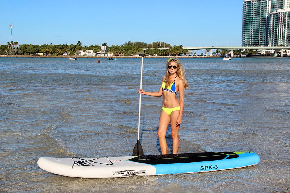 Miami paddle boarding