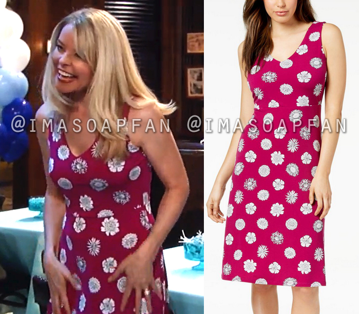 Felicia Scorpio, Kristina Wagner, Pink and White Floral Dress, General Hospital, GH