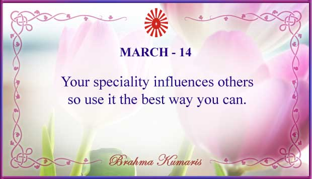 Thought For The Day March 14