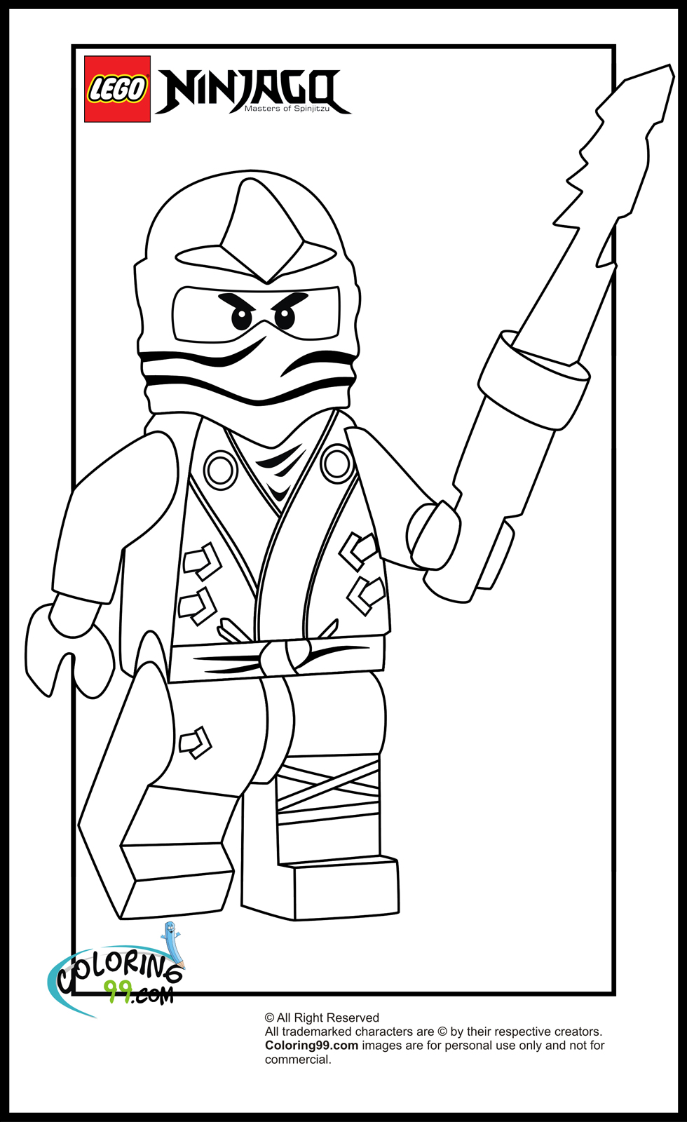 lego ninjago zane coloring pages | minister coloring