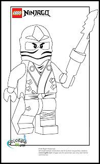 LEGO Ninjago Zane Coloring Pages | Minister Coloring