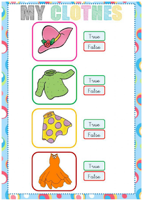 FUN ENGLISH KIDS - INFANT and PRIMARY: LiveWorksheets - Clothes