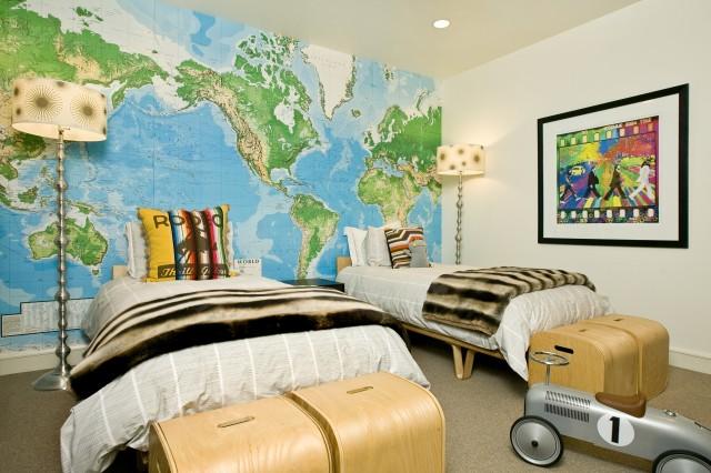 världskarta tapet barnrum fototapet barntapet karta