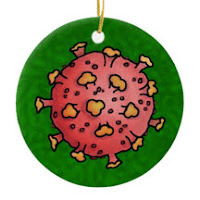 Cartoon Covid ornament on Zazzle