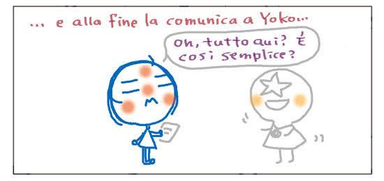 ...e alla fine la comunica a Yoko... Oh, tutto qui? È così semplice?