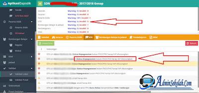 2 Cara Mengatasi Invalid GTK Status Kepegawaian Guru Honorer Dapodik 2018b Terbaru